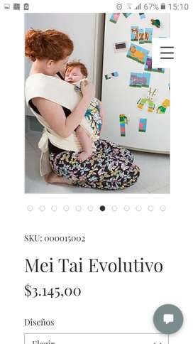 Vendo fular marca lumma impecable Mei Tai Evolutivo