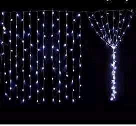 Cortina con luces blanca dispinibles