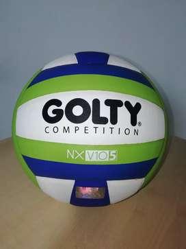 Vóleibol Competiton Golty NXV10 No. 5, nuevo, no se usó, comprado en el Deportista, con sello de originalidad Golty