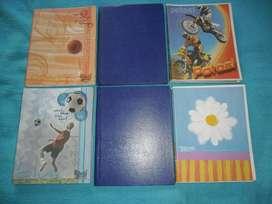 Lote de cuadernos y papel glasé