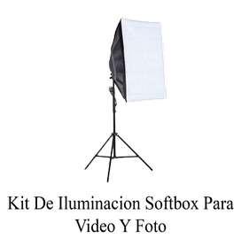 Kit Softbox De Iluminacion Para Fotografia Y Video Con Softbox