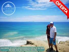 En venta terrenos de 200M2 a 30 minutos de Manta, frente al mar CRDITO DIRECTO S2