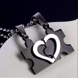 Collar Corazón rompecabezas Separables Parejas Enamorados