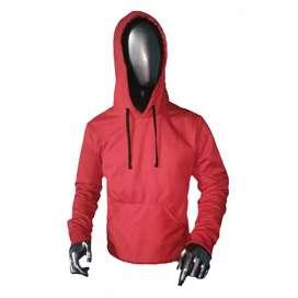 Chaqueta roja algodón talla M