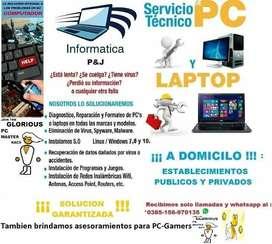 Servicio tecnico domiciliario en computacion