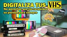 Convierte tus videos VHS a DVD o cualquier formato