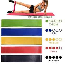 Bandas Elásticas Fitness/ Bandas de resistencia - Set de 5 cintas elásticas Fitness