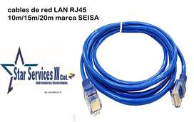 Cable De Red Rj45 15 Metros Cat 5e Utp Lan Con Protector