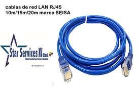 Cable De Red Rj45 15 Metros Cat 5e Utp Lan Con Protector