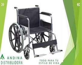 Silla De Rueda Cromada Acero Soporta 120kg, Salud, Importada