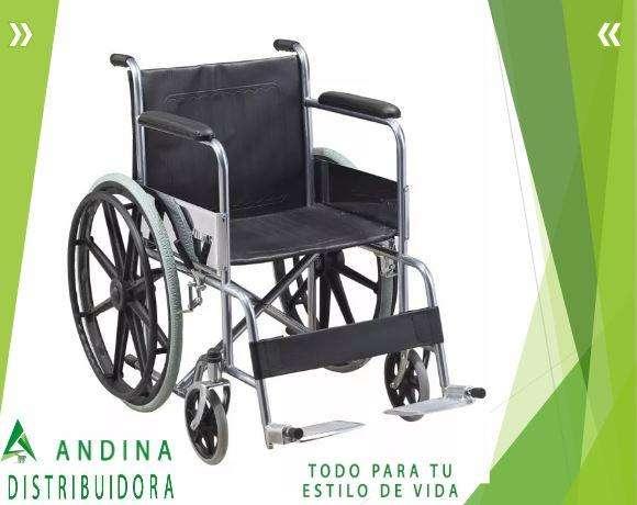 Silla De Rueda Cromada Acero Soporta 120kg, Salud, Importada 0