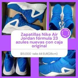 Zapatillas Nike Air Jordan fórmula 23 azules nuevas con caja original talle 42,5