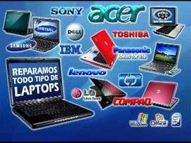 Reparacion de  computadores de escritorios  y portatiles