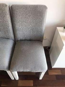 Vendo sillas chenille nuevas