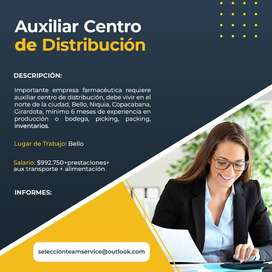 Auxiliar centro de distribucion