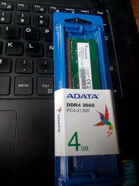 Memoria Ram 4GB DDR4 para portatil( ¡¡¡NUEVA!!! )10/10