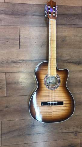 Guitarra Electro acústica Española + Forro + Cartilla de Aprendizaje + 2 uñas