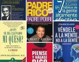 389 libros de emprendimiento. Coleccion. Robert kiyosaky,  jurgen claric, donald trump etc.