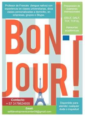 Clases personalizadas de Francés y préparación de exámenes internacionales