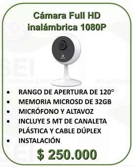 Cámara Inalámbrica Full HD Micrófono Y Altavoz