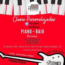Clases Online de Piano y Bajo