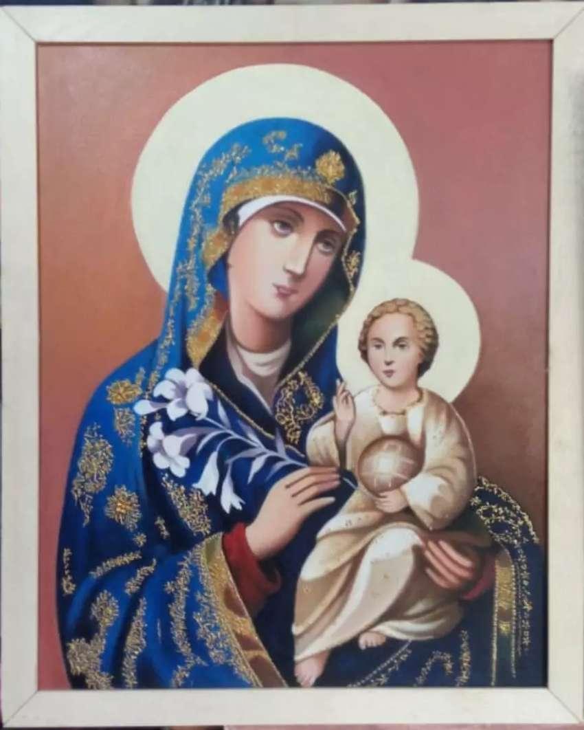 Pintura Virgen con Niño