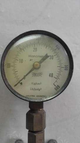Manuvacuómetro y manómetro antiguos marca BE & CA