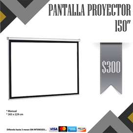"Pantalla Proyector Manual 150"""