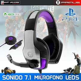 Auricular Gamer Primus ARCUS 250S Sonido 7.1 Led PS4 XBOX PC