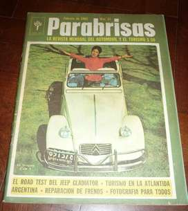 ANTIGUA REVISTA PARABRISAS NRO 51 ROAD TEST JEEP GLADIATOR - TAPA CITROEN 1965 AUTOMOVILISMO