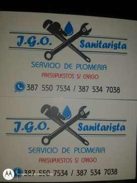 JGO Sanitarista ofrece servicio de plomería