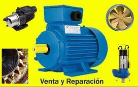 Venta y Reparacion de Motores electricos, Bombas de Agua.  Bobinados Trifasicos, Monofasicos, Transformadores, Frenos