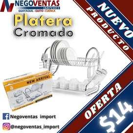 PLATERA DE ACERO INOXIDABLE