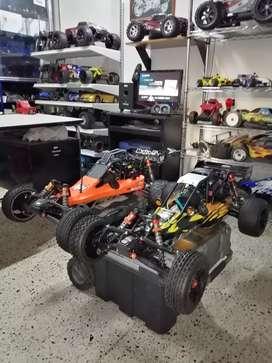Servicio técnico para carros RC Gasolina, nitro y eléctricos. Venta de carros nuevos y usados. Repuestos y accesorios.