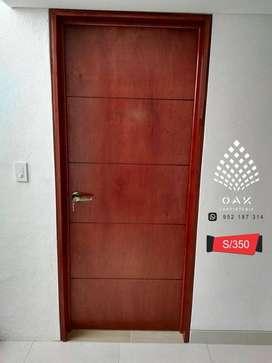 Puertas contraplacadas de madera en Arequipa pedidos online
