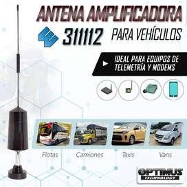 Antena Amplificadora Para Vehículo Carro Wilson 311112 + 5 dBi de ganancia zonas de baja cobertura