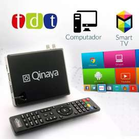 Gratis Envio Combo Tv Box + Decodificador tdt + Cable Av Hdmi Qinaya