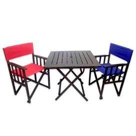 Juego Jardin, mesa y sillas, exterior, plegable Salta