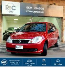 Renault Symbol Confort 1.6L 16v '09 - 73.000km - Excelente estado!!