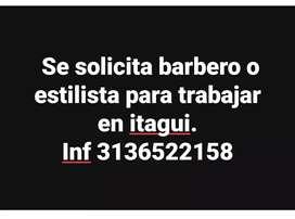 Se solicita estilista o barbero