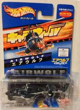 Vendo Helicoptero a Escala Lobo del Aire Airwolf Mattel CharaWheels Bandai China Nuevo Universal Studios