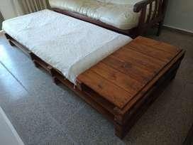 Sillón cama de una plaza de palet