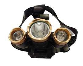Linterna Minera Recargable 4 Tipos de luz Manos libres