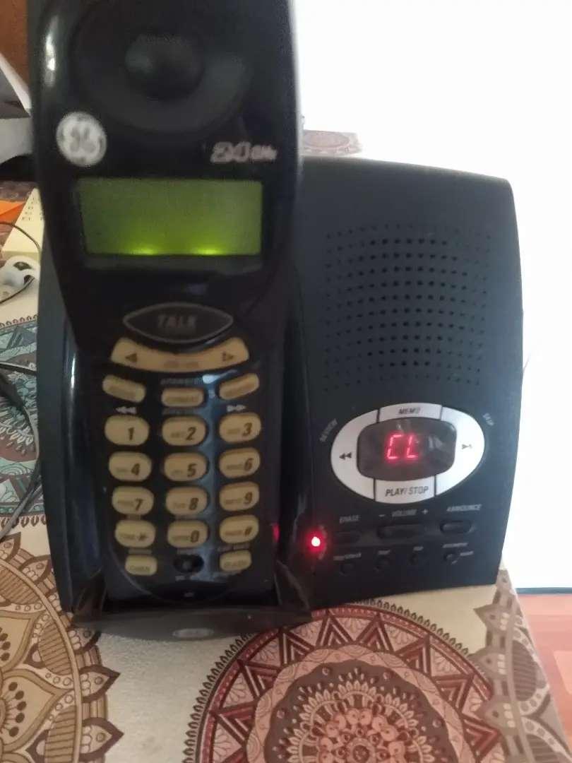 Teléfono GE inhalámbrico con contestador 0