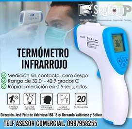 Detector de temperatura, termómetros infrarrojos digitales, medidor corporal