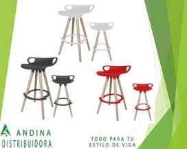 Taburete Silla Multiusos Eames Alta Desayunador Comedor Bar Incluye Asistencia 6/1