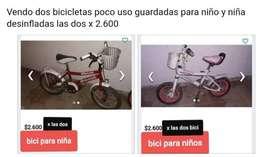 Bicletas para niños rod 12 y 16