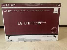 "TV LG DE 43"" UHD ULTRA SOUND CON BLUETOOTH NUEVA"