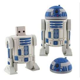 Memoria Usb 8 Gb Con Diseño R2d2 Star Wars, Especial para Regalo
