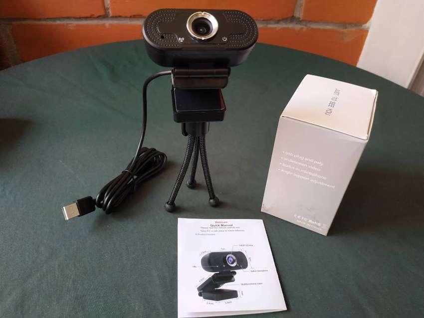 Web Cam Full Hd 1080p Con Micrófono + Tripode 0